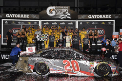 Erik Jones, Joe Gibbs Racing, Toyota Camry buyatoyota.com Celebrates his win