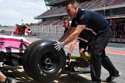 Force India VJM11 non branded Pirelli tyre