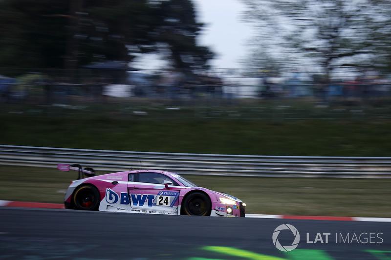 12. #24 Audi Sport Team BWT Mücke Motorsport Audi R8 LMS GT3: Markus Winkelhock, Mike Rockenfeller, Christopher Haase, Nico Müller