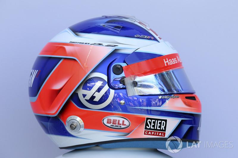 Le casque de Romain Grosjean, Haas F1