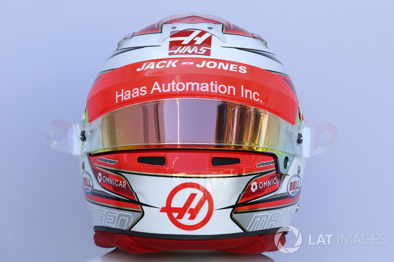 Casco de Kevin Magnussen, Haas F1