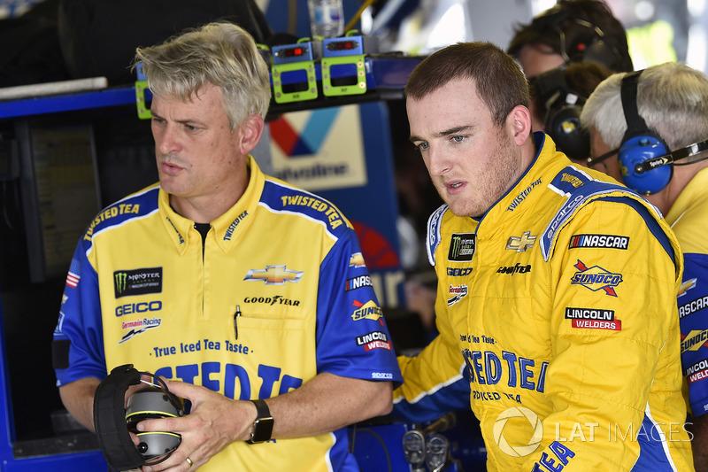 Ty Dillon, Germain Racing, Chevrolet Camaro Twisted Tea y Matt Borland
