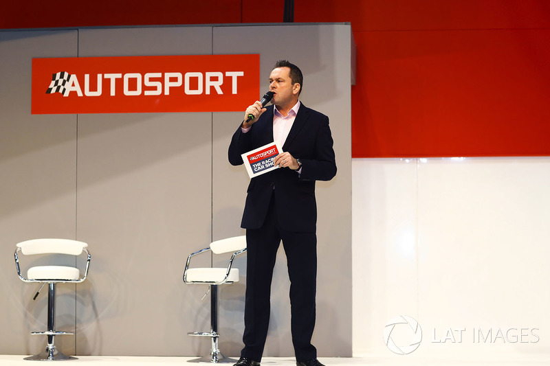 Henry Hope-Frost on the Autosport Stage