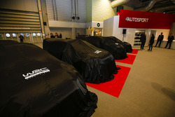 WRC cars under covers