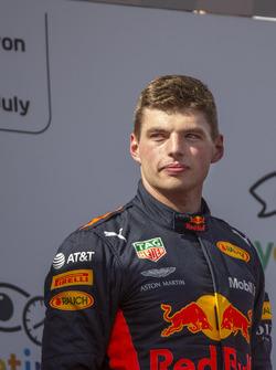 Max Verstappen, Red Bull Racing on the podium