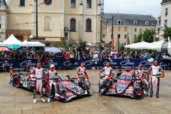 #3 Rebellion Racing Rebellion R-13: Mathias Beche, Gustavo Menezes, Thomas Laurent, #1 Rebellion Racing Rebellion R-13: Andre Lotterer, Neel Jani, Bruno Senna