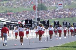 Grid girls voor de race