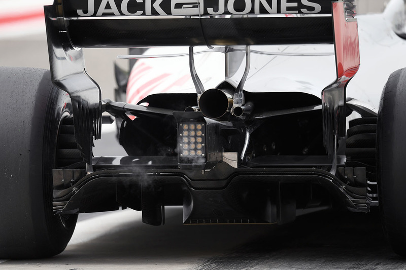 Romain Grosjean, Haas F1 Team VF-18 rear detail