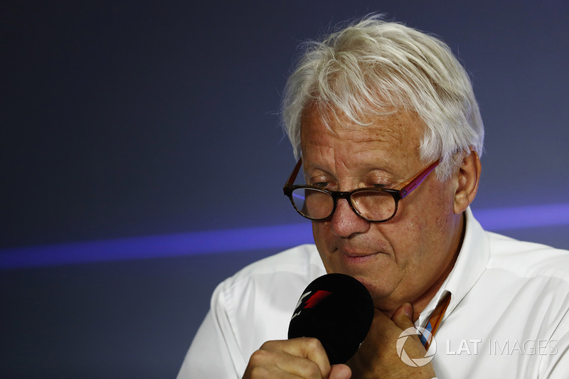 Charlie Whiting, FIA Race Director, holds a press conference,