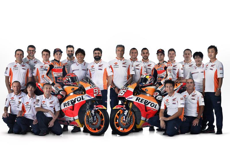 Dani Pedrosa and Marc Marquez, Repsol Honda Team with the team