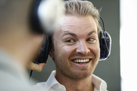Nico Rosberg in the pits