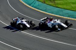 Charles Leclerc, Sauber C37 and Sergey Sirotkin, Williams FW41