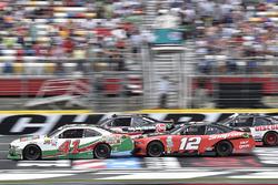 Kevin Harvick, Stewart-Haas Racing Ford, Austin Dillon, Richard Childress Racing Chevrolet, Ryan Blaney, Team Penske Ford, Brad Keselowski, Team Penske Ford