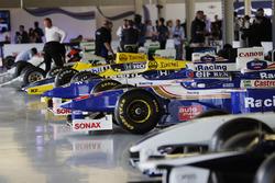 Reihe von Williams-F1-Autos