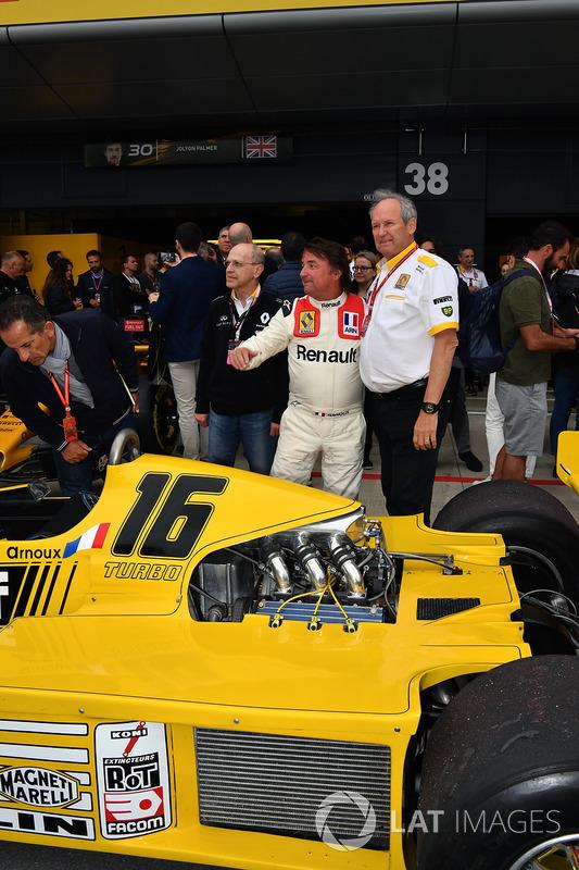 Jerome Stoll, Direktur Renault Sport F1, dan René Arnoux.
