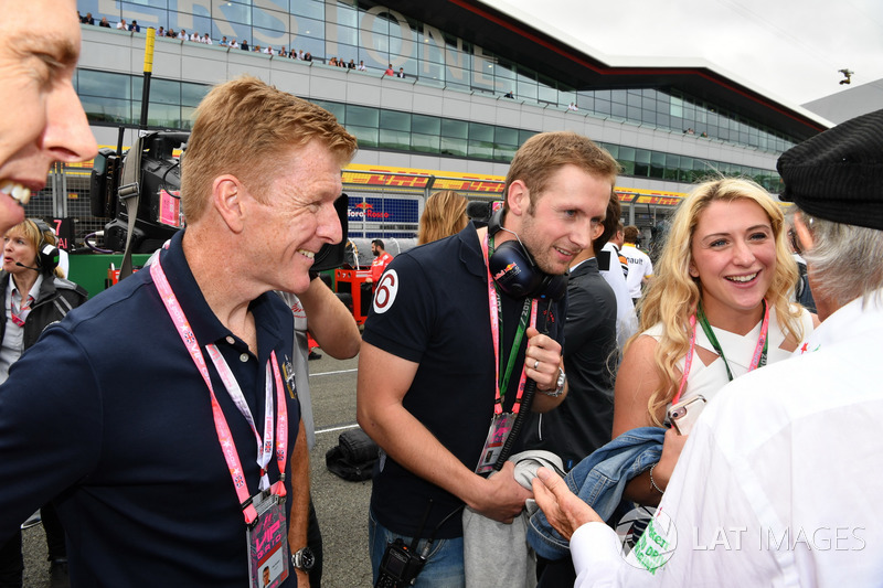 Jackie Stewart, Laura Kenny, ciclista olímpico y su esposo a Jason Kenny, ciclista olímpico