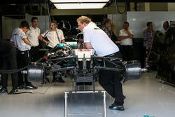 Mercedes-Benz F1 W08  en el garaje