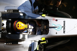 Lewis Hamilton, Mercedes AMG, in cockpit
