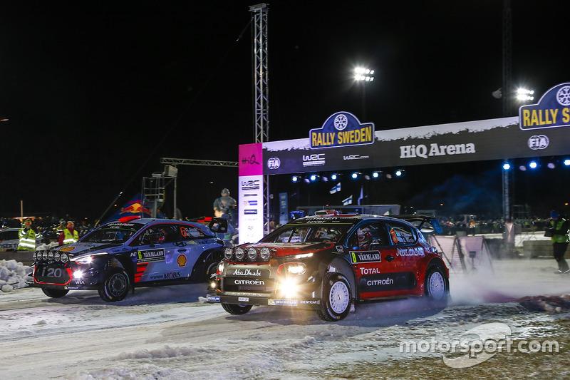 Craig Breen, Scott Martin, Citroën C3 WRC, Citroën World Rally Team, Daniel Sordo, Marc Marti, Hyundai i20 WRC, Hyundai Motorsport