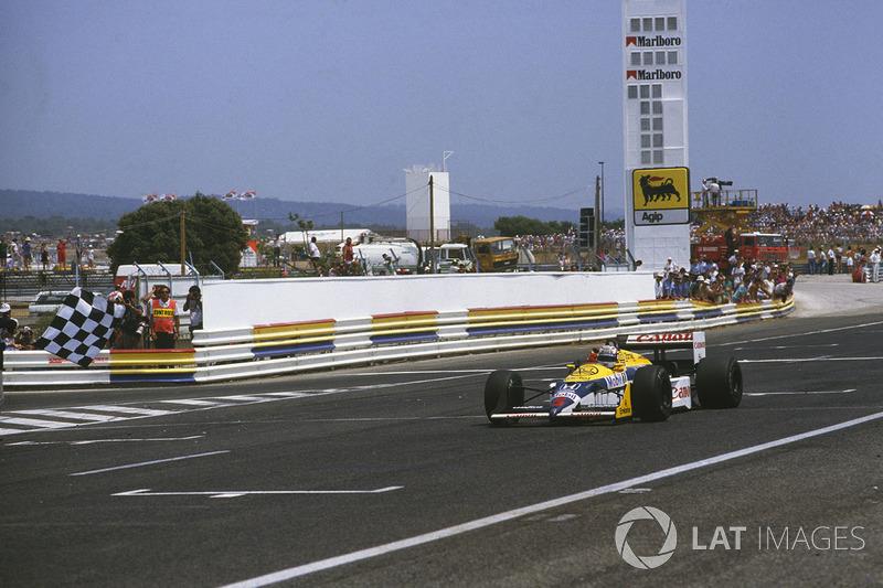 A segunda foi em 1987, superado por Nelson Piquet no duelo interno da Williams.