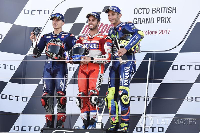 Maverick Viñales foi o segundo e Valentino Rossi terminou em terceiro.