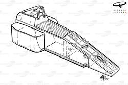 Châssis de la Ferrari F1-90 (641)