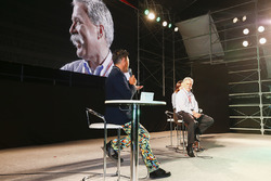 Chase Carey, Chairman, Formula One, on stage in the F1 Fanzone