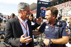 Chase Carey, Chairman, Formula One, Christian Horner, Team Principal, Red Bull Racing
