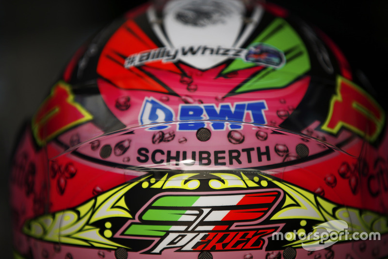 The helmet of Sergio Perez, Force India