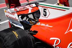 Ferrari SF70H: Motorhaube und Heckflügel