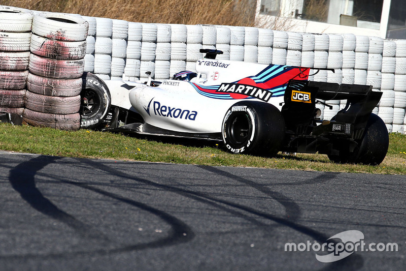 Crash de Lance Stroll, Williams FW40