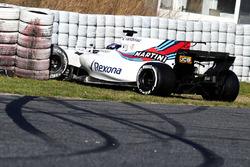 Crash de Lance Stroll, Williams FW40