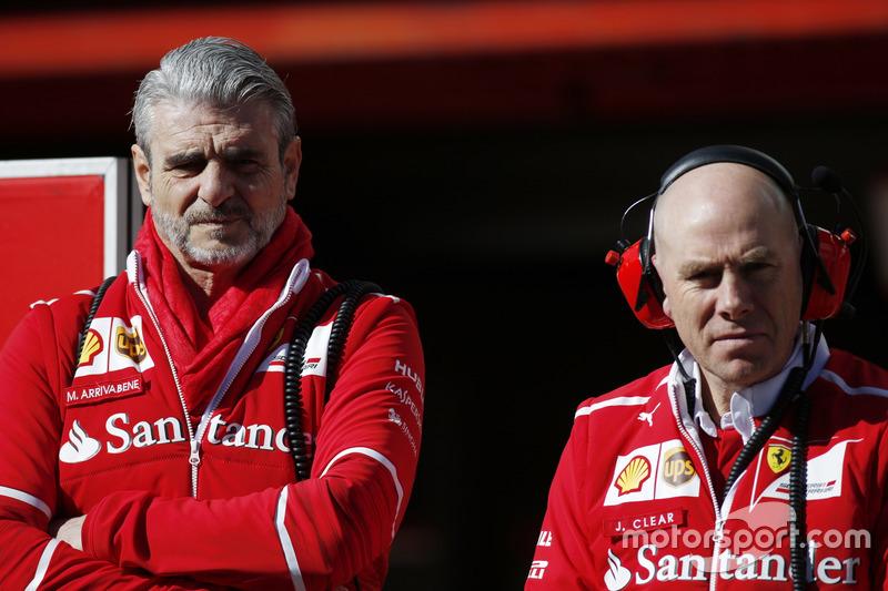 Maurizio Arrivabene, Team Principal, Ferrari and Jock Clear, Engineering Director, Ferrari