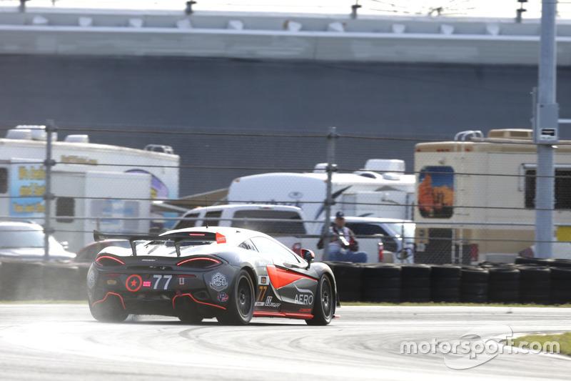 #77 Compass360 Racing McLaren GT4: Matthew Keegan, Nico Rondet lost some liquid