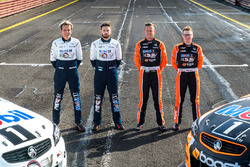 Warren Luff, Walkinshaw Racing, Alex Davison, Lucas Dumbrell Motorsport Holden, James Courtney, Walkinshaw Racing, Jack Perkins, Walkinshaw Racing