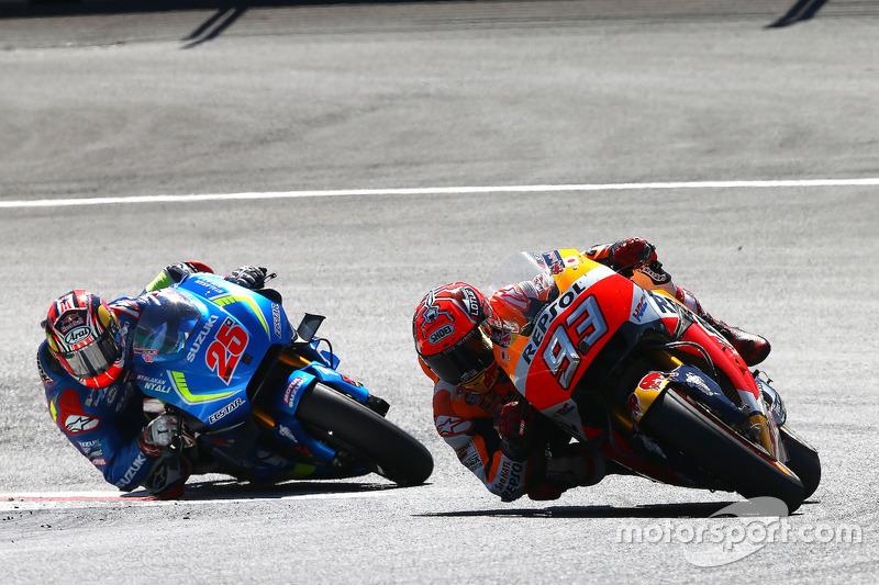 Marc Marquez, Repsol Honda Team; Maverick Viñales, Team Suzuki Ecstar MotoGP