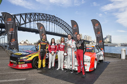 Chaz Mostert, Renee Gracie, Simona De Silvestro, Craig Lowndes and James Courtney
