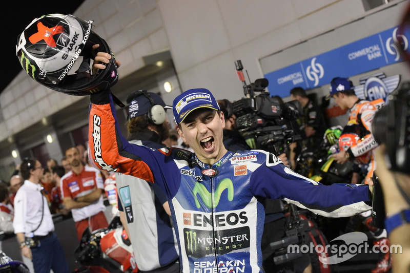 Jorge Lorenzo, Movistar Yamaha MotoGP, Yamaha in parc ferme