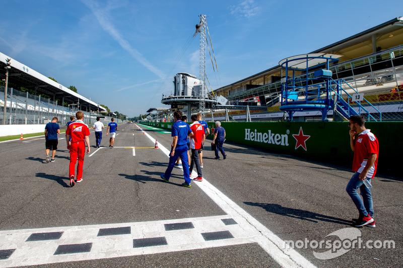 Antonio Fuoco, Trident, Artur Janosz, Trident and Giuliano Alesi, Trident walk the track