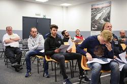#16 Team Duqueine Renault RS01: Robert Kubica during drivers briefing