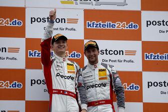 Podium: Race winners #99 Precote Herberth Motorsport Porsche 911 GT3 R: Robert Renauer, Mathieu Jaminet