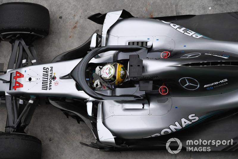 Lewis Hamilton, Mercedes AMG F1 W09 EQ Power+ fête sa victoire dans le Parc Fermé