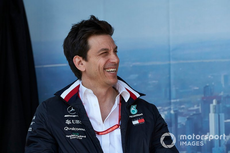 Toto Wolff, Executive Director (Business), Mercedes AMG, on stage
