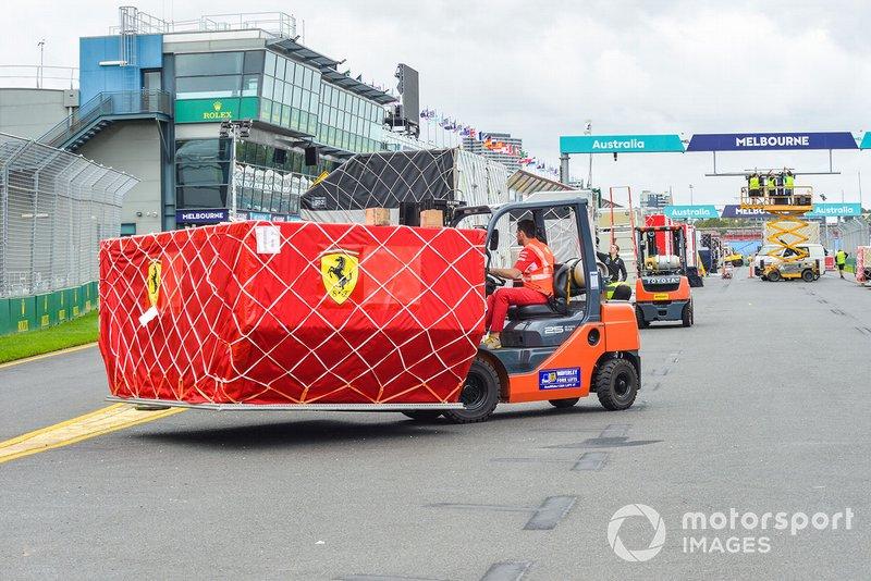 Werkzaamheden voorafgaand aan de Grand Prix in Melbourne