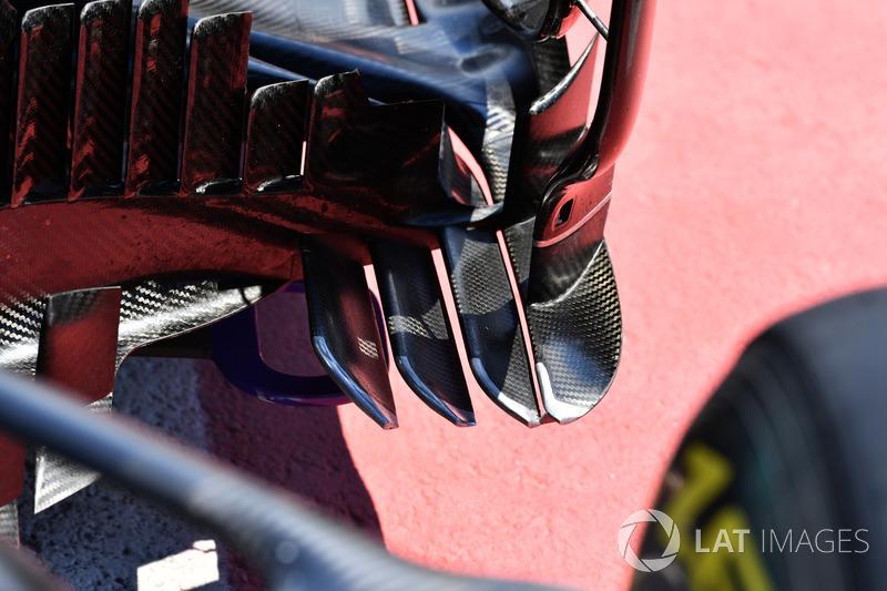 Mercedes-Benz F1 W08 : vue détaillée de l'aérodynamique
