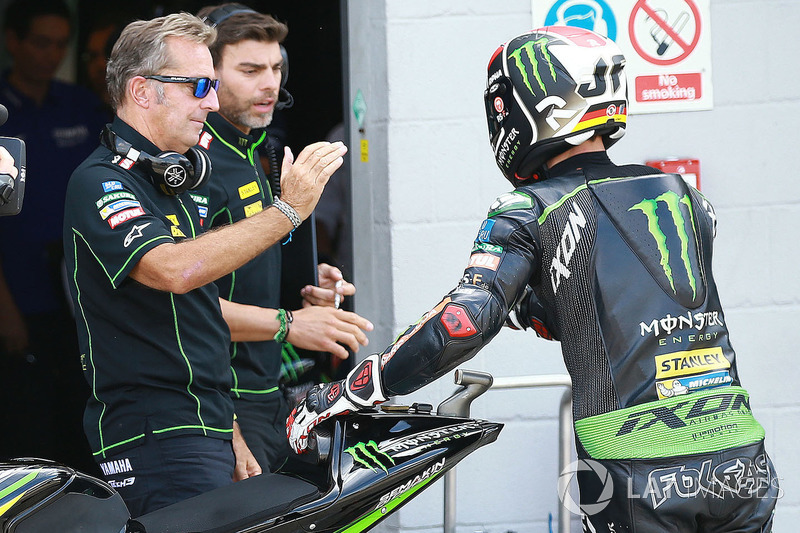 Hervé Poncharal, director de Monster Yamaha Tech 3 Team, Jonas Folger, Monster Yamaha Tech 3