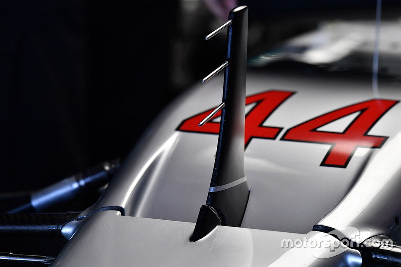 Mercedes AMG F1 W08  nose detail