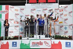 Podio SGT3, Beretta-Frassineti (Ombra Srl,Lamborghini Huracan-S.GT3 #12), Zampieri-Agostini (Antonelli Motorsport,Lamborghini Huracan- S.GT3 #63), Gai-Venturi (Black Bull Swisse Racing, Ferrari 488-S.GT3 #46)