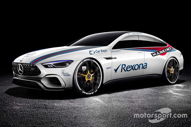 Mercedes Benz AMG GT Concept dengan corak Williams
