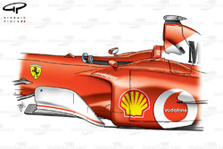 Déflecteur et ponton de la Ferrari F2002 (653)